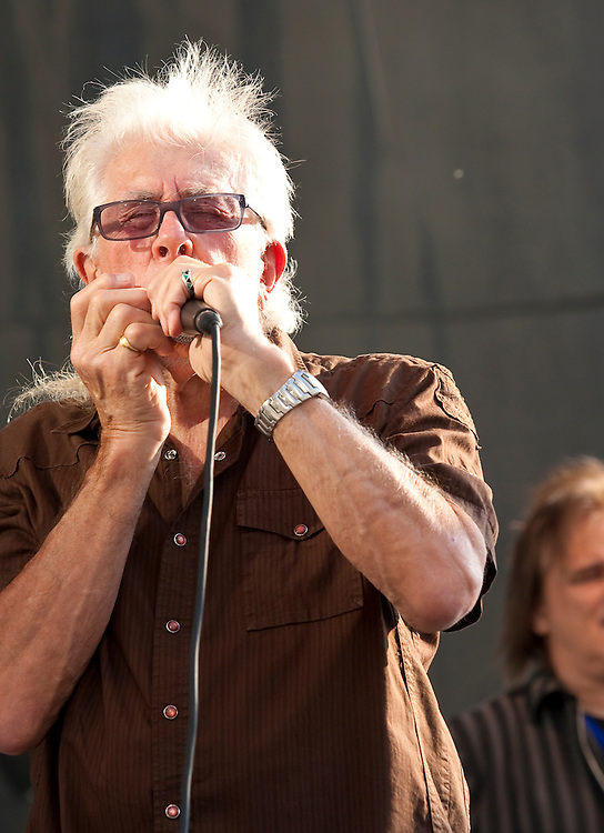 John Mayall performing at the Lowdown Hudson Blues Festival, July 11, 2012 at the World Financial Center in New York City