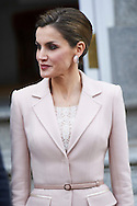 Queen Letizia of Spain attended an official lunch at Palacio de la Zarzuela on February 22, 2017 in Madrid, Spain.