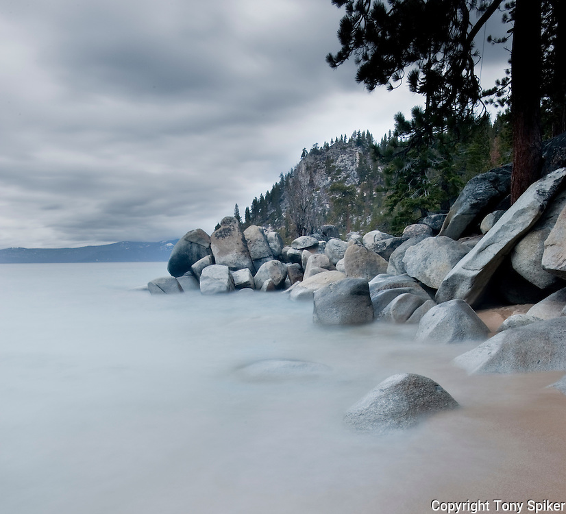 """Skunk Harbor 2"" - A storm rolls in at Skunk Harbor, on Lake Tahoe's Eastern Shore."