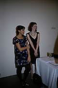 Ariana Mouyiaris and Rachel Hornsby , Other,Riyas Komu and Peter Drake. - VIP  launch of Aicon. London's largest contemporary Indian art gallery. Heddon st. and afterwards at Momo.15 Marc h 2007.  -DO NOT ARCHIVE-© Copyright Photograph by Dafydd Jones. 248 Clapham Rd. London SW9 0PZ. Tel 0207 820 0771. www.dafjones.com.