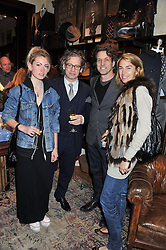 Left to right, AMY WEBSTER, DEXTER FLETCHER, STEPHEN WEBSTER and ASSIA WEBSTER at a reception hosted by Ralph Lauren Double RL and Dexter Fletcher before a private screening of Wild Bill benefitting FilmAid held at RRL 16 Mount Street, London on 26th March 2012.