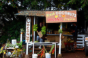 Fruit stand, Hana Coast, Maui, Hawaii