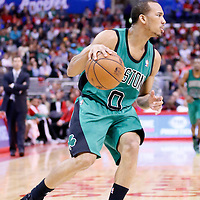 08 January 2014: Boston Celtics point guard Avery Bradley (0) dribbles during the Los Angeles Clippers 111-105 victory over the Boston Celtics at the Staples Center, Los Angeles, California, USA.