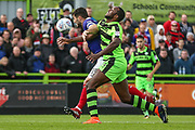 Forest Green Rovers Shamir Mullings(14) and Exeter City's Jordan Moore-Taylor(15) during the EFL Sky Bet League 2 match between Forest Green Rovers and Exeter City at the New Lawn, Forest Green, United Kingdom on 9 September 2017. Photo by Shane Healey.