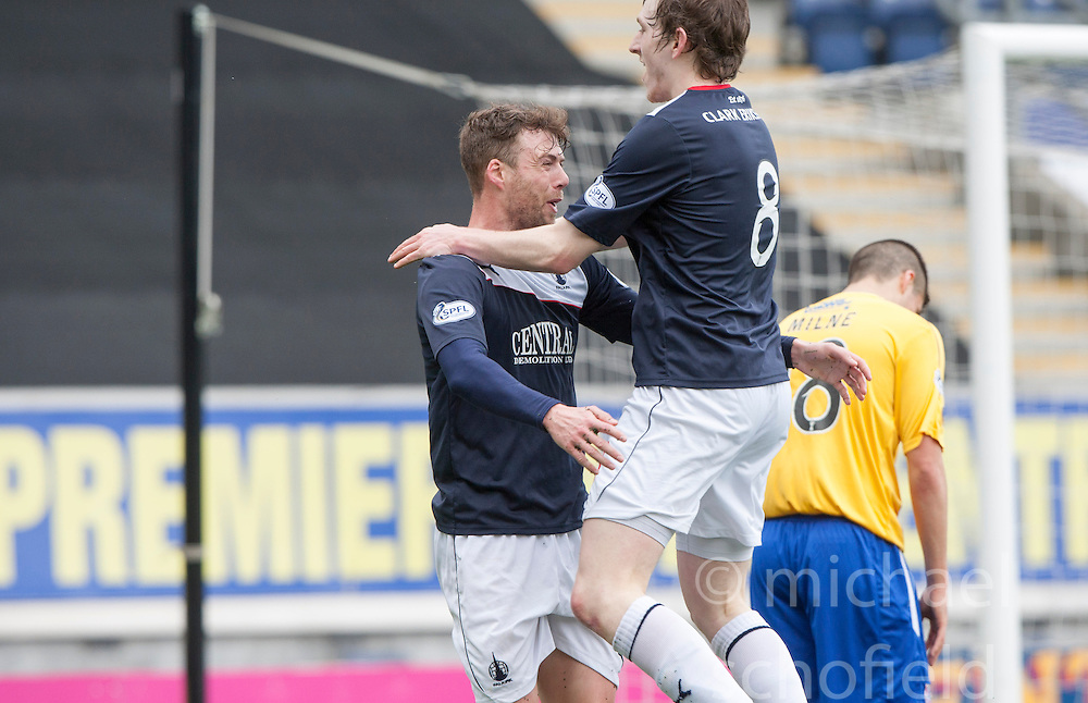 Falkirk's Rory Loy celebrates after scoring their second goal.<br /> Falkirk 5 v 0 Cowdenbeath, Scottish Championship game played today at The Falkirk Stadium.<br /> &copy; Michael Schofield.