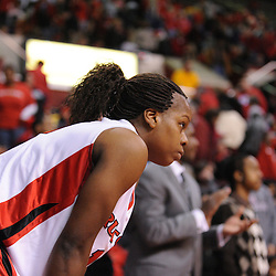 Jan 31, 2009; Piscataway, NJ, USA; Rutgers guard Epiphanny Prince (10) reacts to missing a last second three-point shot during South Florida's 59-56 victory over Rutgers in NCAA women's college basketball at the Louis Brown Athletic Center