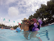 Joanne and Charlie enjoy water aerobics together in Memphis, Tennessee.