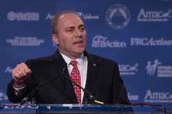October 13, 2017 - Washington, DC, United States - House Majority Whip Steve Scalise, speaks at the 2017 Values Voter Summit, at the Omni Shoreham Hotel in Washington, D.C., on Friday, October 13, 2017. (Credit Image: © Cheriss May/NurPhoto via ZUMA Press)