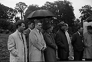 21/06/1965<br /> 06/21/1965<br /> 21 June 1965<br /> Cutting first sod for the Irish-Swiss Institute of Horology, Blanchardstown, Dublin. The institute, that was to hold courses in watch repairing,was due to an agreement between the Department of Education and the Swiss Watch Industry. Picture shows some of the guests listening to the speakers at the ceremony.