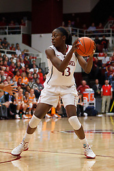 Dec 20, 2011; Stanford CA, USA; Stanford Cardinal forward Chiney Ogwumike (13) holds the ball against the Tennessee Lady Volunteers during the second half at Maples Pavilion.  Stanford defeated Tennessee 97-80. Mandatory Credit: Jason O. Watson-US PRESSWIRE