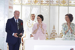 June 14, 2018 - Madrid, Spain - (R-L) Queen Sofia of Spain, Magdalena Valerio and Vicente del Bosque attends Mapfre Foundation Awards 2017 at Casino de Madrid on June 14, 2018 in Madrid, Spain. (Credit Image: © Oscar Gonzalez/NurPhoto via ZUMA Press)