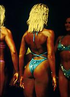 Fitness, illustrasjon, feature, kropp, rumpe, hår, bikini, brun.