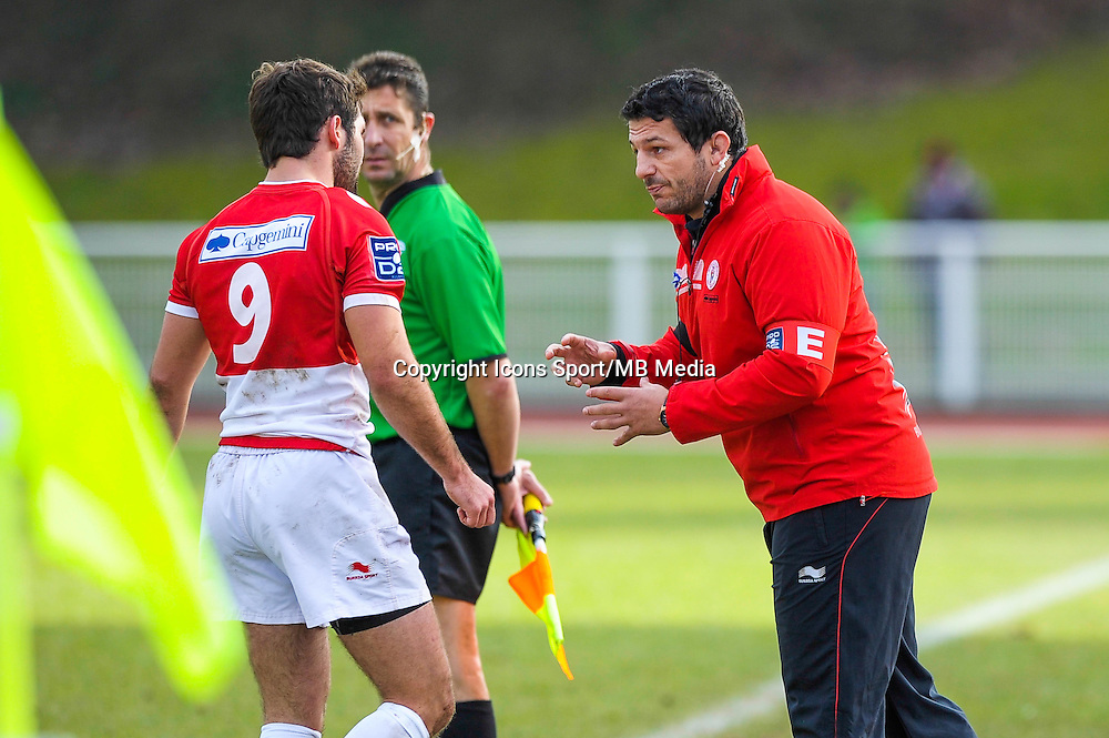 Benoit August - 25.01.2015 - Massy / Biarritz - 18eme journee de Pro D2<br /> Photo : Andre Ferreira / Icon Sport