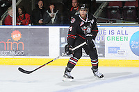 KELOWNA, CANADA - FEBRUARY 18: Matt Dumba #24 of the Red Deer Rebels skates on the ice as the Red Deer Rebels visit the Kelowna Rockets on February 18, 2012 at Prospera Place in Kelowna, British Columbia, Canada (Photo by Marissa Baecker/Shoot the Breeze) *** Local Caption ***