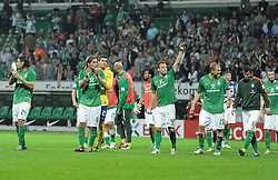 25.09.2011, Weserstadion, Bremen, GER, 1.FBL, Werder Bremen vs Hertha BSC, im Bild Jubel bei Werder nach dem Sieg..// during the match Werder Bremen vs Hertha BSC on 2011/09/25, Weserstadion, Bremen, Germany..EXPA Pictures © 2011, PhotoCredit: EXPA/ nph/  Frisch       ****** out of GER / CRO  / BEL ******