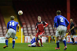 Bristol City U18s Harry Paice in action during the second half of the match - Photo mandatory by-line: Rogan Thomson/JMP - Tel: Mobile: 07966 386802 - 04/12/2012 - SPORT - FOOTBALL - Ashton Gate Stadium - Bristol. Bristol City U18 v Ipswich Town U18 - FA Youth Cup Third Round Proper.
