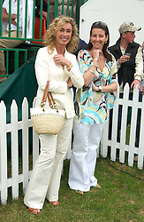 Left to right, ANGIE RUTHERFORD and NAOMI FRANKS  at the Kuoni World Class Polo Day held at Hurtwood Park Polo Club, Surrey on 29th May 2005.<br />
