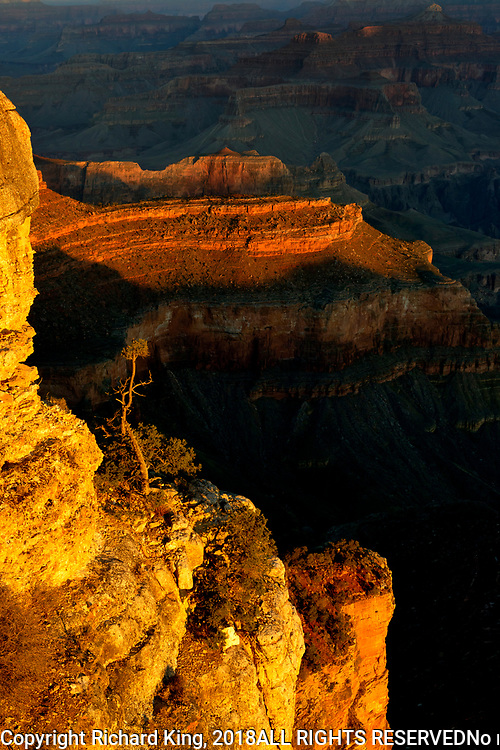 Landscape photographs from Yavapai Point, Grand Canyon NP
