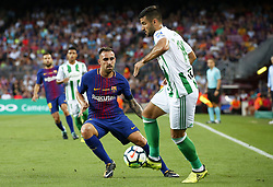 August 20, 2017 - Barcelona, Spain - Paco Alcacer and Barragan during La Liga match between F.C. Barcelona v Alaves, in Barcelona, on September 10, 2016. Photo: Edi Capmany/Urbanandsport/Nurphoto  (Credit Image: © Urbanandsport/NurPhoto via ZUMA Press)