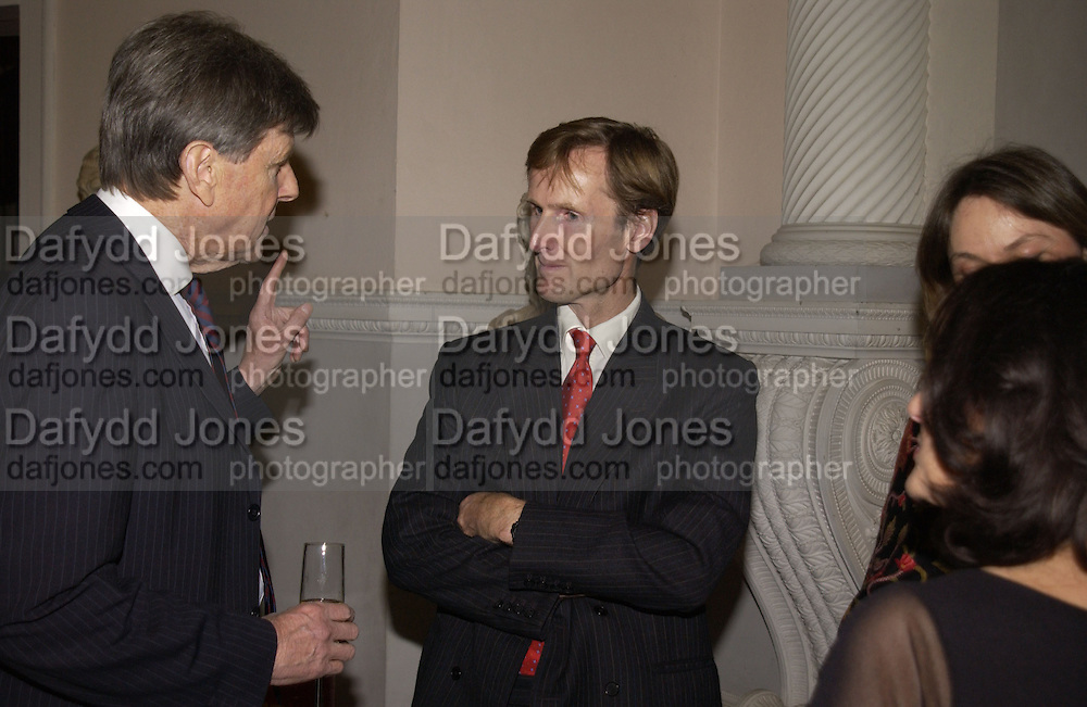 Sir Toby Clarke, The Duke of Northumberland, , Launch of ' The World of Private Castles, Palaces and Estates. Syon House. 31 October 2005. ONE TIME USE ONLY - DO NOT ARCHIVE © Copyright Photograph by Dafydd Jones 66 Stockwell Park Rd. London SW9 0DA Tel 020 7733 0108 www.dafjones.com