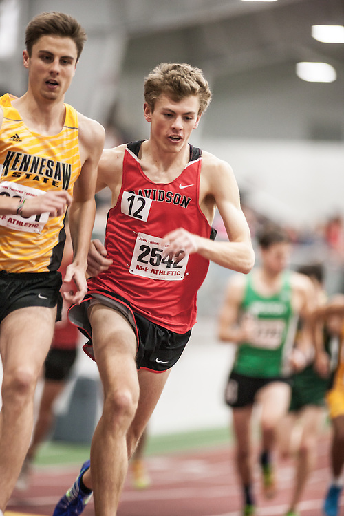 Boston University Scarlet & White Indoor Track and Field: men's 3000 meters, Davidson College, Walker Mogen