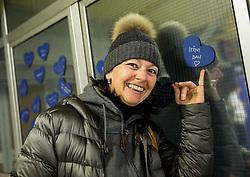 Dobrodelna akcija Podarite nam modro srce v organizaciji podjetja Nivea in Zveze prijateljev mladine Slovenije pred odbojkarsko tekmo med ACH Volley in OK Salonit Anhovo, 18. januar 2017, v Hali Tivoli, Ljubljana, Slovenija.<br /> <br /> Foto: Vid Ponikvar / Sportida