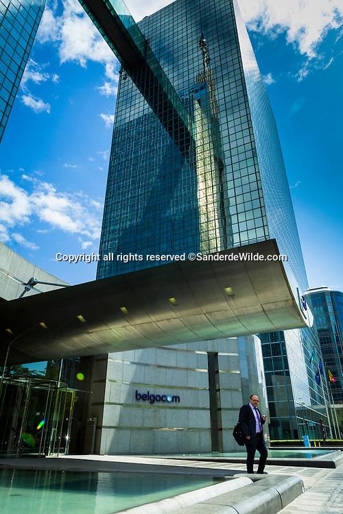 Belgacom gebouw Koning Albert II laan 27, Brussel, nabij Rogier Noord-station. CEO Didier Bellens heeft hier kantoor.