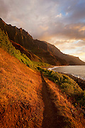 Trail , Kalalau Valley, Napali Coast, Kauai, Hawaii