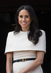 June 14, 2018 - Cheshire, England, United Kingdom - 6/14/18.Her Majesty Queen Elizabeth II accompanied by The Duchess of Sussex (Meghan Markle) visit Cheshire for a day of engagements including observing a moment of silence in memory of the victims of the Grenfell Tower fire, opening the Mersey Gateway Bridge, a visit to Storyhouse in Chester, a plaque unveiling at Chester Town Hall, a visit to Northgate Street and a luncheon hosted by Cheshire West and the Chester Council. (Chester, Cheshire, England, UK) (Credit Image: © Starmax/Newscom via ZUMA Press)