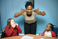 UK. London. The Hartley Centre in East Ham, which offers theraputic, educational and play activities for children with Downs Syndrome and their Carers..Photo by Steve Forrest
