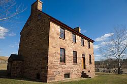 Pre-Civil War era Stone House at the Manassas National Battlefield Park, located north of Manassas, Virginia on February 28, 2008.