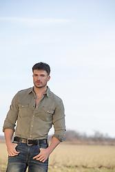 Good looking man outdoors