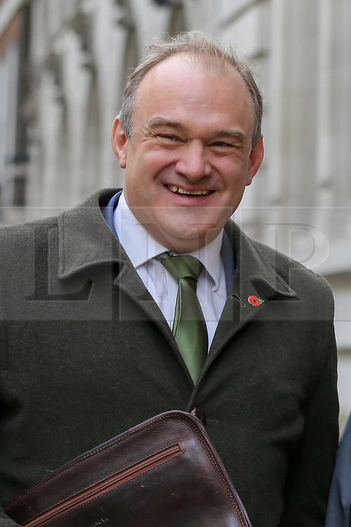 © Licensed to London News Pictures. 05/11/2019. London, UK. Deputy Leader of the Liberal Democrats and MP for Kingston and Surbiton ED DAVEY arrives for the launch of Liberal Democrat general election campaign in Westminster. A general election will be held on 12 December 2019. Photo credit: Dinendra Haria/LNP