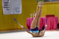 Monija Cebasek of Slovenia at rhythmic gymnastics for 15th Slovenian Challenge Tournament 2013, on November 16, 2013, in Dvorana Sentvid, Ljubljana, Slovenia. (Photo by Matic Klansek Velej / Sportida.com)