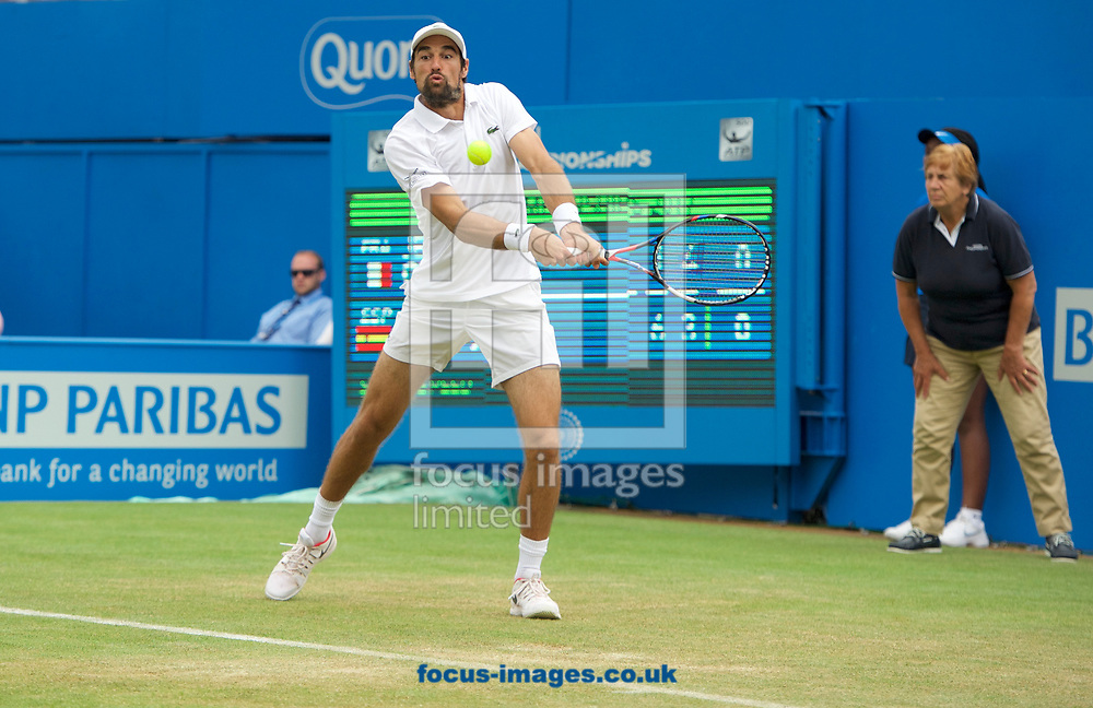 Jeremy Chardy (France) during his second round match against Feliciano Lopez (Spain) on day four of the Aegon Championships 2017 held at The Queen's Club, Kensington, UK.<br /> Picture by Alan Stanford/Focus Images Ltd +44 7915 056117<br /> 22/06/2017