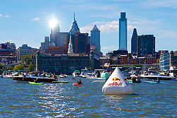 """Red Bull Flugtag, Camden Waterfront, NJ USA - September 15, 2012;.33 teams compete in the second edition of the Philly Red Bull Flug Tag. Thousands came out on both sides of the river to see handmade crafts attempt to fly. Team """"New Kids on the Dock"""" from Philadelphia, PA took the 1st prize for covered distance..."""