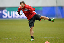 04.03.2014, AFG Arena, St. Gallen, SUI, Training der Schweizer Nationalmannschaft, vor dem Testspiel gegen Kroatien, im Bild Xherdan Shaqiri (SUI) // during a practice session of swiss national football team prior to the international frindley against Croatia at the AFG Arena in St. Gallen, Switzerland on 2014/03/04. EXPA Pictures © 2014, PhotoCredit: EXPA/ Freshfocus/ Andy Mueller<br /> <br /> *****ATTENTION - for AUT, SLO, CRO, SRB, BIH, MAZ only*****