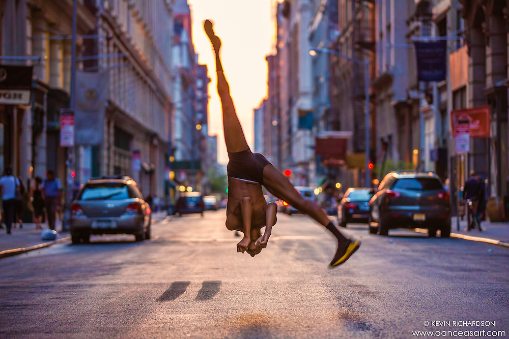 Manhattanhenge- Streets of New York City Dance As Art Photography Project with dancer Daniel White