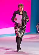 © Licensed to London News Pictures. 23/09/2014. Manchester, UK. Maria Eagle. Labour Party Conference 2014 at the Manchester Convention Centre today 23 September 2014. Photo credit : Stephen Simpson/LNP