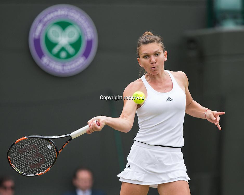 04.07.2016. All England Lawn Tennis and Croquet Club, London, England. The Wimbledon Tennis Championships Day 8.  SIMONA HALEP (ROU)