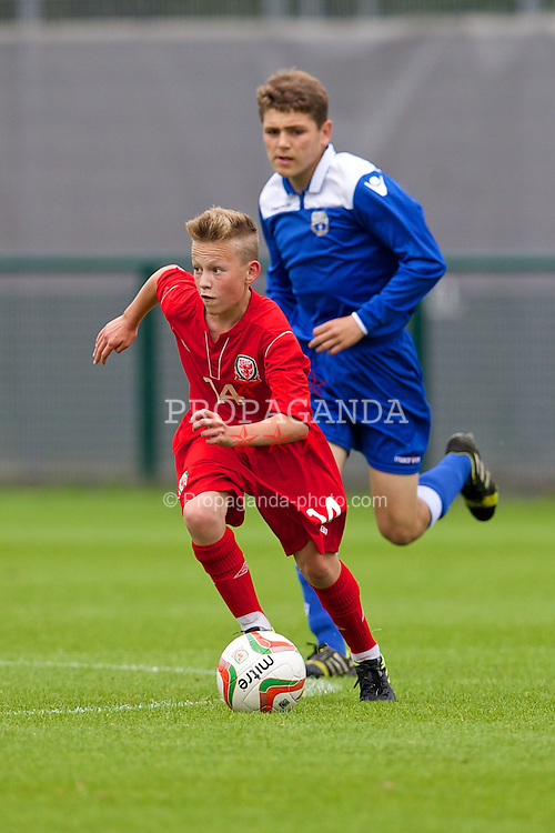 NEWPORT, WALES - Tuesday, May 27, 2014: Regional Boys' Owen Evans during the Welsh Football Trust Cymru Cup 2014 at Dragon Park. (Pic by David Rawcliffe/Propaganda)