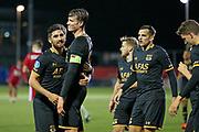 Wout Weghorst of AZ Alkmaar celebrates 0-3 with Alireza Jahanbakhsh of AZ Alkmaar