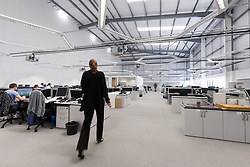 Workers at Kelvin Hughes, specialising in the design and manufacture of navigation and surveillance systems and a supplier of navigational data to both the commercial marine and government. Enfield, North London UK