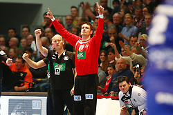09.01.2015, Rothenbach Halle, Kassel, GER, Handball Testspiel, Deutschland vs Island, im Bild Torvon Carsten Lichtlein (Deutschland) auf der Bank // during the International Handball Friendly Match between Germany vs Iceland at the Rothenbach Halle in Kassel, Germany on 2015/01/09. EXPA Pictures © 2016, PhotoCredit: EXPA/ Eibner-Pressefoto/ Weiss<br /> <br /> *****ATTENTION - OUT of GER*****