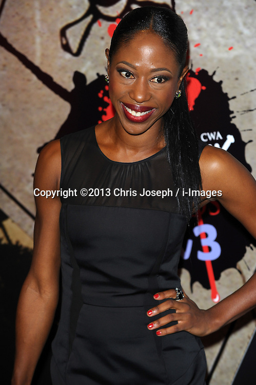 Nikki Amuka Bird during the Crime Thriller Awards. London, United Kingdom. Thursday, 24th October 2013. Picture by Chris Joseph / i-Images