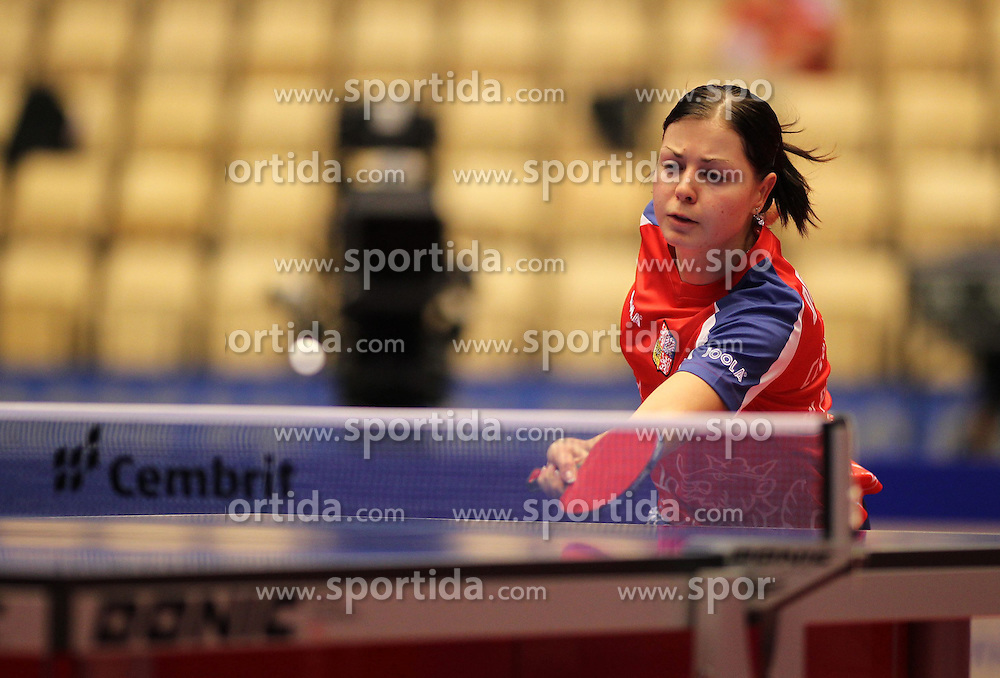 19.10.2012, MGH Arena, Herning, DEN, ETTU, Tischtennis Europameisterschaft, im Bild Katerina PENKAVOVA (CZE) bei der Ballannahme // during the Table Tennis European Championships at the MGH Arena, Herning, Denmark on 2012/10/19. EXPA Pictures © 2012, PhotoCredit: EXPA/ Eibner/ Florian Wues ***** ATTENTION - OUT OF GER *****