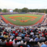Thousands pack into Oxford-University Stadium to see the Rebels take on St. Louis in the first round of their regional in Oxford.