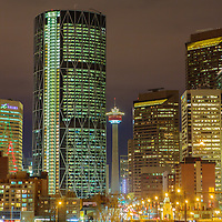 Calgary Cityscape at Night