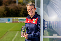 Bristol City Women's Manager Tanya Oxtoby receives LMA Managers Manager of the Month for September 2018 - Ryan Hiscott/JMP - 04/10/2018 - FOOTBALL - Stoke Gifford Stadium - Bristol, England - Tanya Oxtoby receives Managers Manager of the Month for September 2018