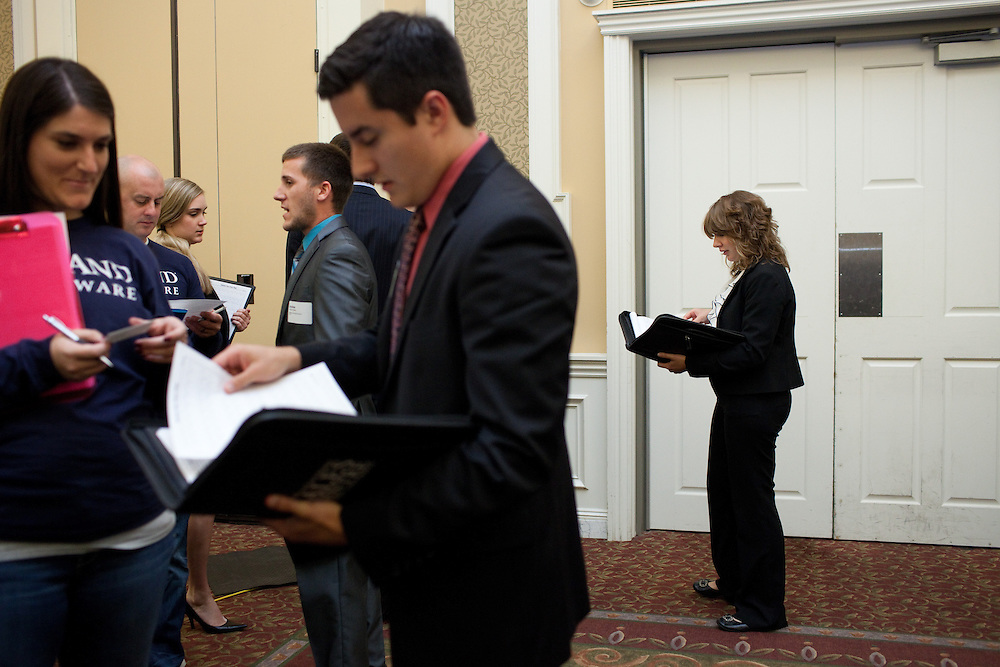 A career and internship fair was hosted in the Baker Center at Ohio University in Athens, Ohio on Tuesday, September 24, 2013. Photo by Chris Franz